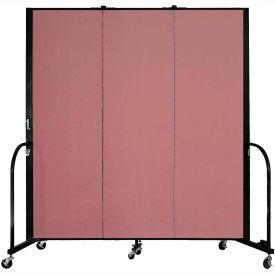 "Screenflex Portable Room Divider - 3 Panel - 6'H x 5'9""L -  Rose"