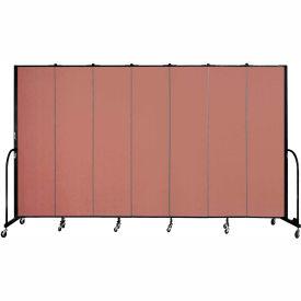 "Screenflex 7 Panel Portable Room Divider, 7'4""H x 13'1""L, Fabric Color: Cranberry- Pkg Qty 1"