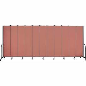 "Screenflex 11 Panel Portable Room Divider, 8'H x 20'5""L, Fabric Color: Cranberry"