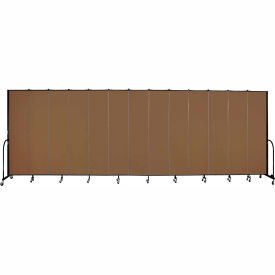 "Screenflex 13 Panel Portable Room Divider, 8'H x 24'1""L, Fabric Color: Oatmeal"