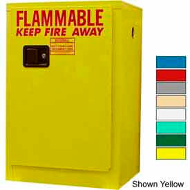Securall® 12-Gallon, Manual Close, Flammable Cabinet Ag Green
