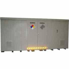 """Securall® 18'W x 8'D x 8' 4""""H Hazmat Chemical Storage Building 32 Drum"""