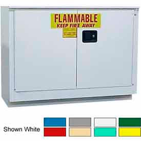 Securall® 36-Gallon Sliding Door Laboratory Cabinet Red