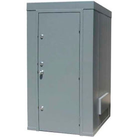 Securall® 4'W x 4'D Tornado Safe Room Gray, 1-3 People