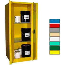 Securall® 60-Gallon, Manual Close, Haz Waste Safety Can Cabinet Yellow