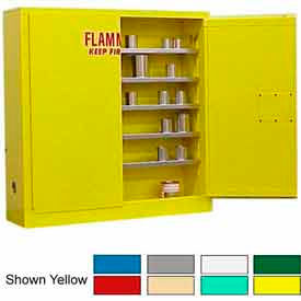 Securall® 24-Gallon Manual Close, Wall-Mounted Flammable Cabinet Red