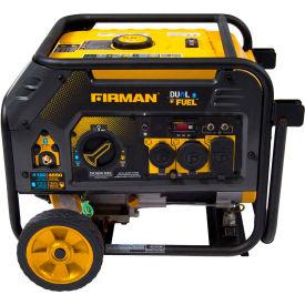 Firman 4550/3650 Watt Dual Fuel Portable Generator, Gas, Recoil Start, 120V - H03652