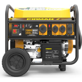 Firman 10,000/8000 Watt Portable Generator, Gas, Recoil, Electric & Remote Start, 120/240V - P08004