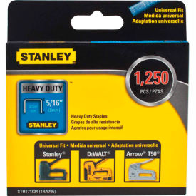 """Stanley® STHT71834  Heavy-Duty Narrow Crown Staples 5/16"""" -1,250 Pack"""