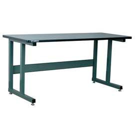 Stackbin Workbench, 1050 Series, Plastic Laminate W/T-Molding, 72