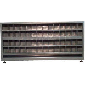 Strong Hold® Heavy Duty Counter High 2-Sided Metal Bin Storage 7.13.3-248-112OP - 85 x 24 x 39