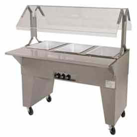 Portable Solid Top Buffet Table, (2) Pan Size, Solid Base, Black