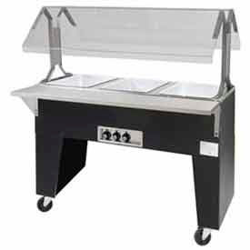 Portable Buffet Table, Ice Cooled, (4) Pan Size, Open Base, Black