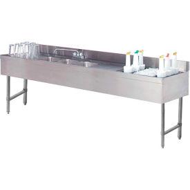"Combo Unit, 4 Comp Sink, 96""L (2) 12"" Drainboards, 24"" Cocktail Unit Right"