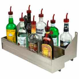 "Bottle Rack, 47"", Double Tier (Integral) Keyhole, S/S"