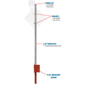 """Tapco® 373-90004 Pole Package with V-Loc® Soil Anchor, 2-3/8"""" x 2-3/8"""" x 12'"""