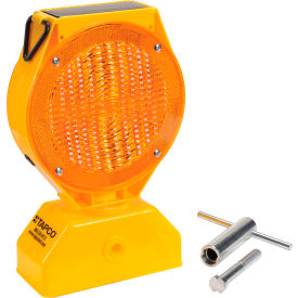 Tapco® 5785469 Individual Solar LED Barricade Light, Amber, 3-Way On/Off Switch