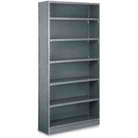 "Tri-Boro Boxer® Closed Starter, CSB73-1848-6, 48""W x 18""D x 73""H, 6 Shelves, 20 Ga, Dark Gray"