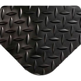 "Wearwell 414 Diamond Plate Diamond Plate Ergonomic Mat 24"" X 3' X 15/16"" Black/None"