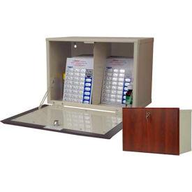 "Wooden Laminate Wall Mount Medicine Cabinet Small Unit, 19-7/16""W x 11""D x 13-5/8""H, Dark Cherry"