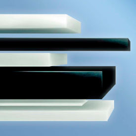 AIN Plastics Acetal Plastic Rectangular Bar Stock, 48 in.L x 2 in.W x 1/4 in. Thick, Black