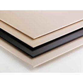 AIN Plastics Cast Nylon 6 Plastic Sheet Stock, 12 in.L x 12 in.W x 2 in. Thick, Natural