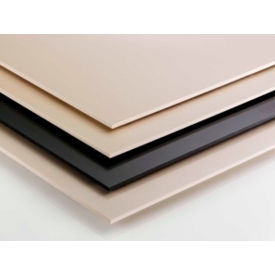 AIN Plastics Cast Nylon 6 Plastic Sheet Stock, 24 in.L x 12 in.W x 4 in. Thick, Natural