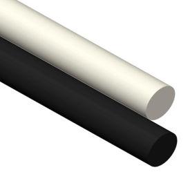 AIN Plastics UHMW Plastic Rod Stock, 5/8 in  Dia  x 60 in  L