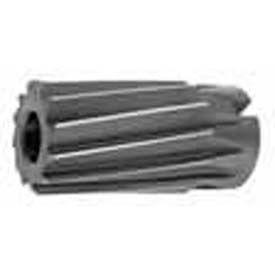 """HSS Import Spiral Flute Shell Reamer 2-7/16"""" Diameter x 1-1/4"""" Hole x 3-3/4"""" OAL, 14 Flutes"""