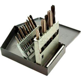 18 Pieces HSS Tap /& Drill Combo Set