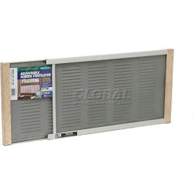 """Frost King Adjustable Window Screen With Vents, 10"""" High, Extends 21-37"""" - Pkg Qty 12"""