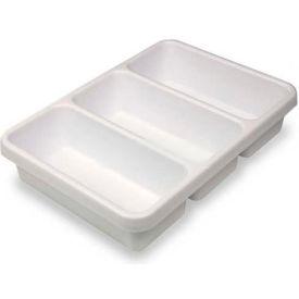 "TrippNT™ 3-Pocket Drawer Organizer Plastic Tray, 14""W x 10""D x 3""H"