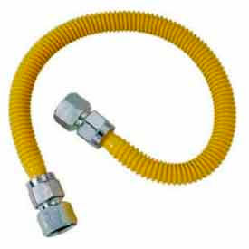 Brasscraft CSSC22-36 Gas Connector W/Fittings 3/4 In. F.I.P. X 3/4 In. F.I.P. X 36 In. - ProCoat SS