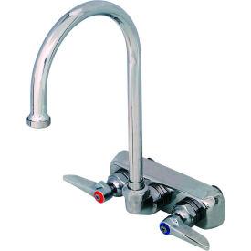 """T&S Brass B-1146 Workboard Back Mounted Faucet W/ 4"""" Centers & 133X Swing Gooseneck- Pkg Qty 1"""