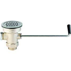 T&S Brass B-3950 Waste Valve w/ Twist Handle-Male