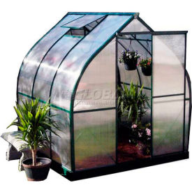 "The Tulip House, Aluminum Frame & Polycarb Glaze, 48Sq/Ft, 4' 3""L X 6' 3""W X 6' 5""H, Green"