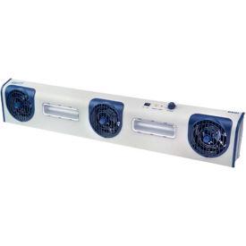 Transforming Technologies Overhead AC Ionizer Blower BFN803, 3 Fans, LED Task Lights, 150-300 CFM- Pkg Qty 1