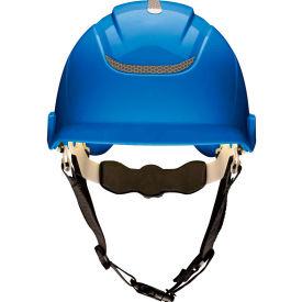 MSA Nexus Linesman Helmet, Vented, Blue, 10186484
