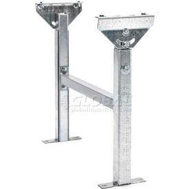 "Adjustable H-Brace Support 24""W x 15""-23""H for UNEX® JRS Roller & SW Skatewheel Conveyors"