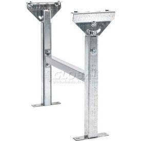 "Adjustable H-Brace Support 24""W x 23""-38""H for UNEX® JRS Roller & SW Skatewheel Conveyors"
