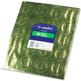 "Geographics® Gold Foil Embossed ""Official Seal of Excellence"" Seals, 100/Pack"