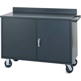 """Vari-Tuff Mobile Utility Cabinet 36""""W x 21""""D x 34''H - 2 Doors w/ single full-length center shelf"""