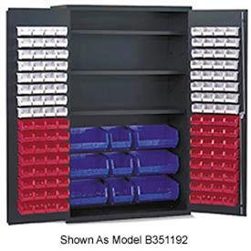 Vari-Tuff Jumbo Bin & Shelf Cabinet - 3 Shelves 137 Yellow Bins