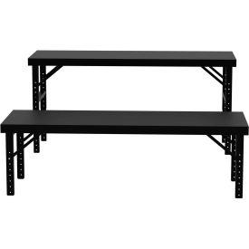 """Vari-Tuff Folding Work Table - Steel Top - 28""""L x 84""""W"""