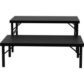 """Vari-Tuff Folding Work Table - Steel Top - 48""""L x 84""""W"""