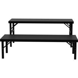 "Vari-Tuff Folding Work Table - Wood Top - 34""D x 96""W"