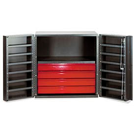 """Vari-Tuff Half Cabinet with 4 Drawers and Shelves 36""""W x 24""""D x 36""""H"""
