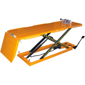 Vestil Hydraulic Motorcycle Lift Table, Tire Cradle & Ramp MOTO-LIFT-1100 - 1100 Lb. Capacity