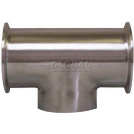 VNE E7CCW2.0 3A Series 2 Tee, 304/T316L Stainless, Clamp x Clamp x Weld