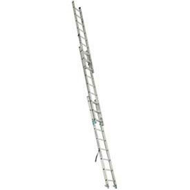 Werner D1224-3CA - 24' Grade 2 Aluminum 3 Section Compact Extension Ladder